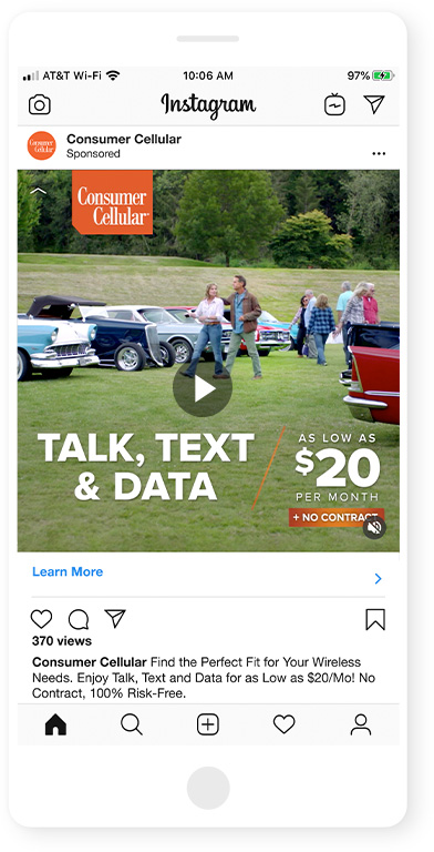 "Consumer Cellular ""Best Fit: Road Trip"" :15 Instagram"