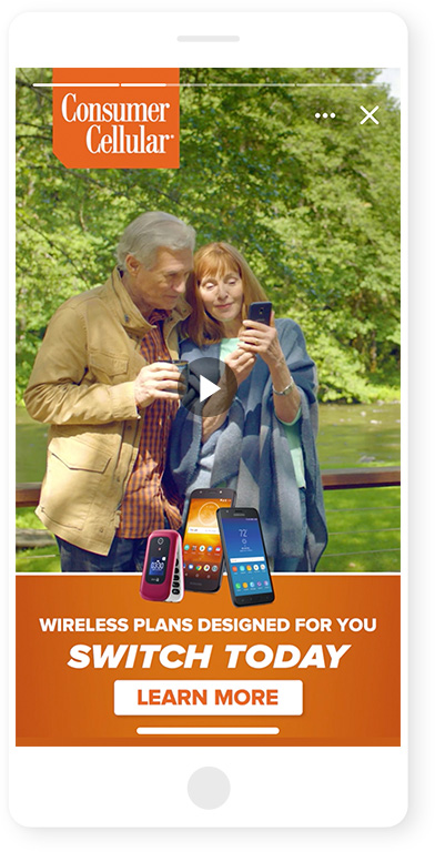 "Consumer Cellular ""Best Fit: Binoculars"" :06 Instagram Story"