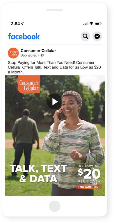 "Consumer Cellular ""Best Fit: Catch"" :15 Facebook"
