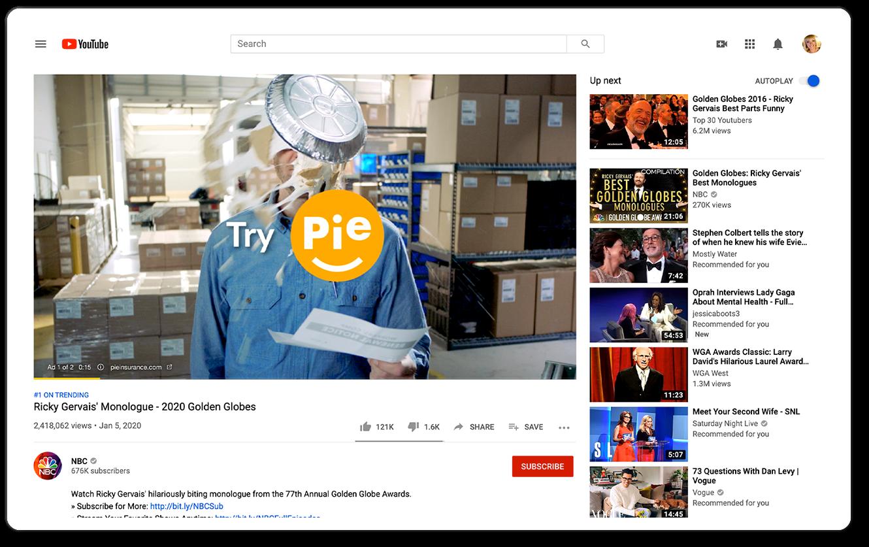 """Pie Insurance """"Try Pie"""" :06 YouTube Preroll"""